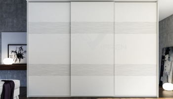 Armario de puertas suspendidas lacado blanco