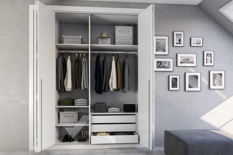 Hacer interior de armarios empotrados a medida blancos armarios vifren - Armarios empotrados para entradas ...