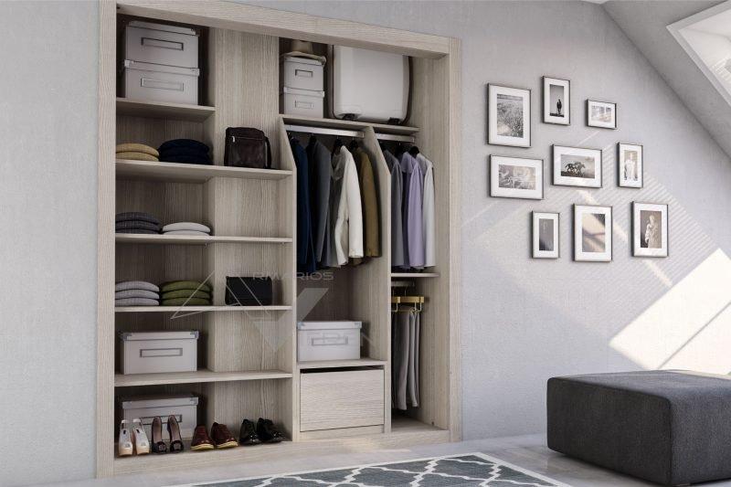 Interior de armario empotrado en Arenado