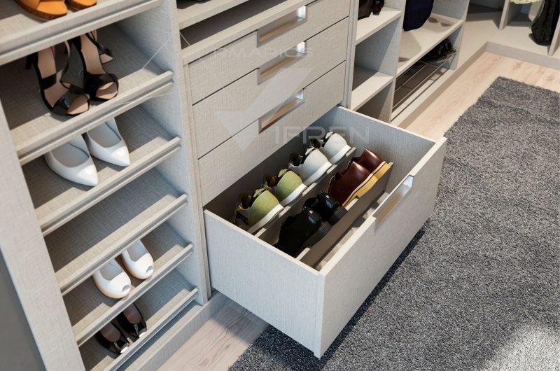 Armarios empotrados a medida con accesorios para interiores - Zapatero para armario ...