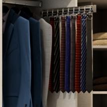 corbatero extraible para interior de armario