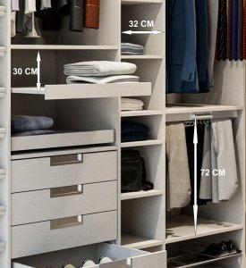 Hacer interior de armarios empotrados a medida blancos armarios vifren - Disenar un armario empotrado ...