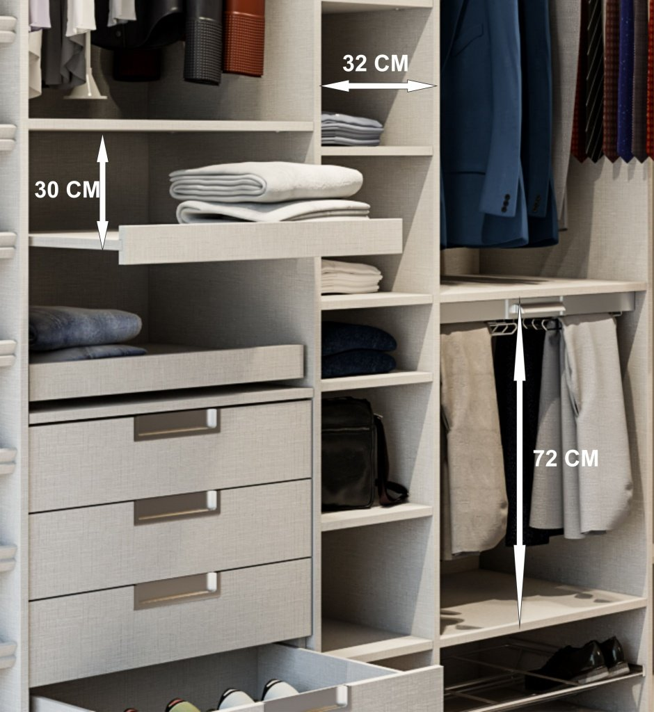 Hacer interior de armarios empotrados a medida blancos - Disenar un armario ...