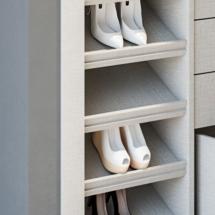 zapatero inclinado para interior de armario a medida